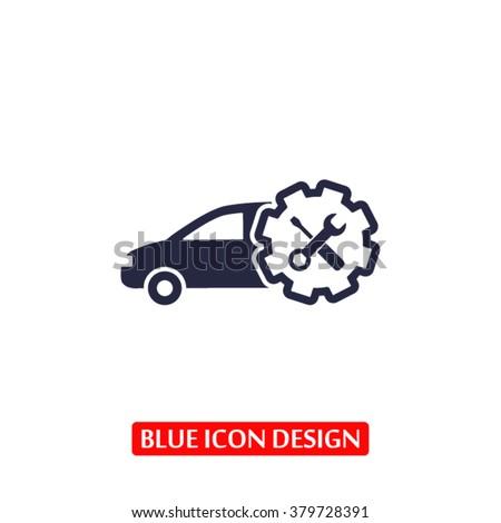 Car service Icon - stock vector