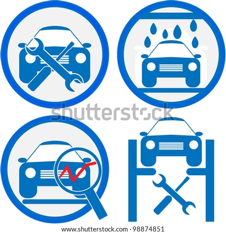 car service icon - stock vector