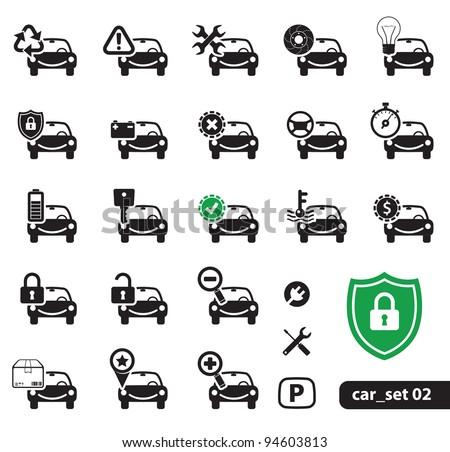 Car Service Icons, Set 02 - stock vector