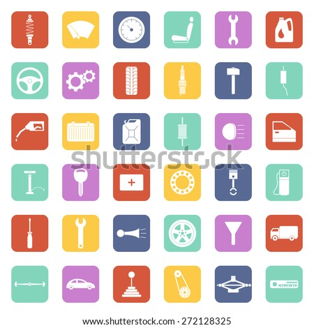 Car service icons set, car parts set. Vector EPS8 illustration.  - stock vector