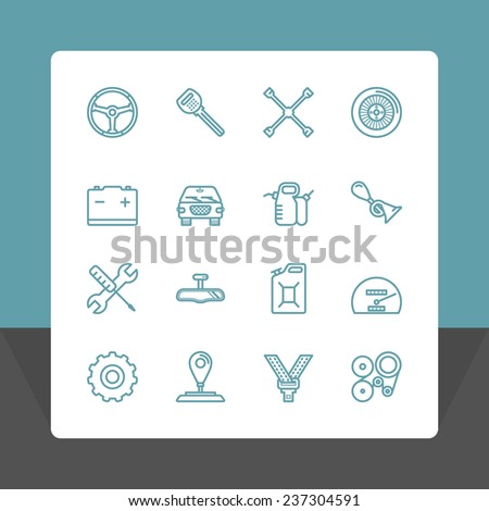 Car service icons set. Vector Illustration EPS10. - stock vector