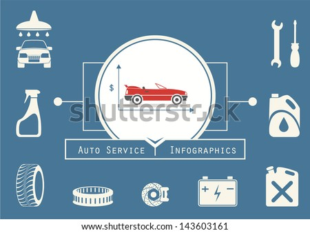 Car Service Infographics. Car Financing - stock vector