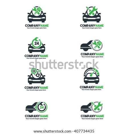 Car Service Logo set, Car repair center set, Car Service Brand  - stock vector