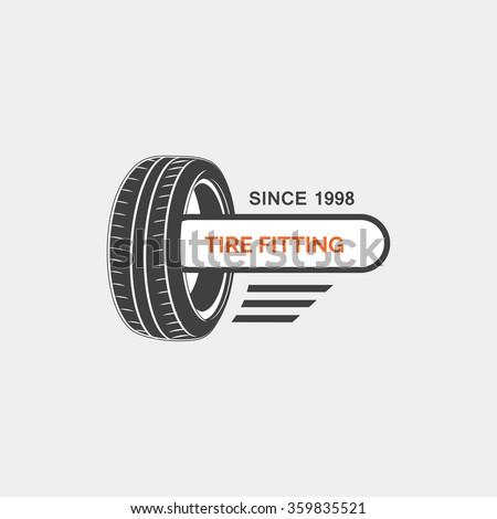 Car service logo template - stock vector