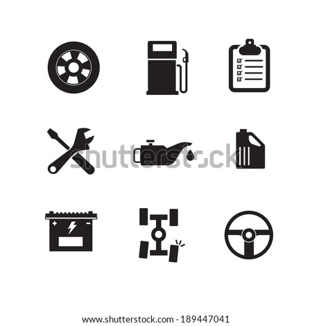 Car service maintenance icon - stock vector