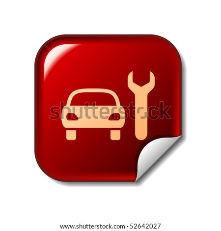 Car service sticker - stock vector