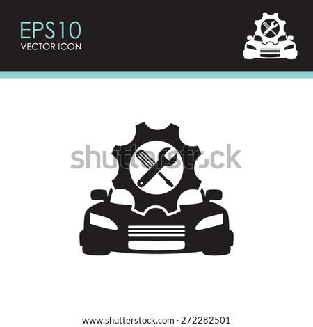Car service vector icon.  - stock vector