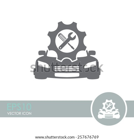 Car service vector icon. Auto repair icon. - stock vector