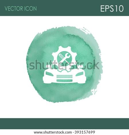 Car service vector icon. Auto repair icon. - stock vector