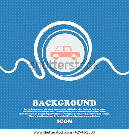 Car sign. Blue and white abstract background flecked with space for text and your design. Vector illustration - stock vector