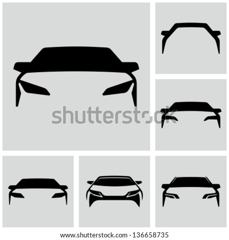 Car silhouette - stock vector