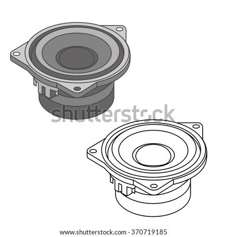 car sound / car spare parts - stock vector