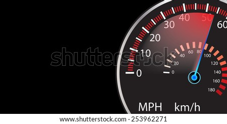 car speedometer abstract background vector