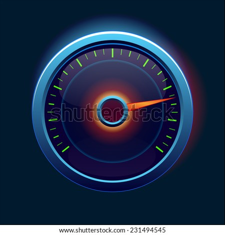 Car speedometer and dashboard  - stock vector