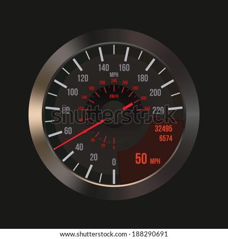 Car Speedometer Dashboard. Vector - stock vector