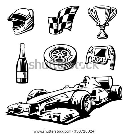Italian Vintage Race Car Finish Line