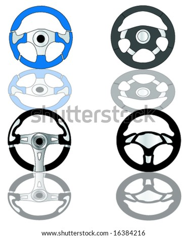 car steering - stock vector