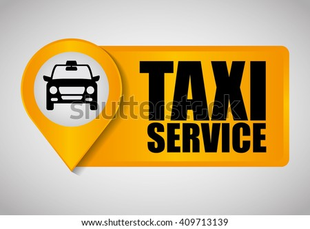 Car taxi icon. Public transport design. Taxi cab. Flat Style - stock vector