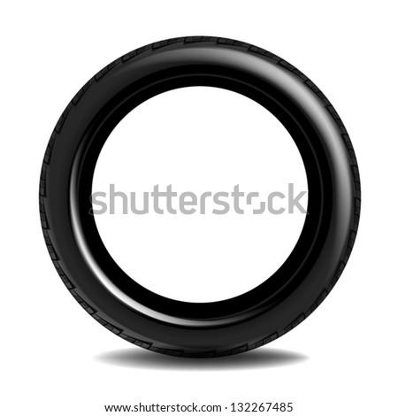 Car tire - stock vector