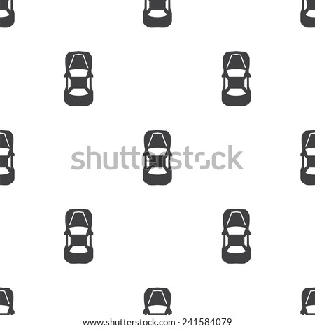 car top, vector seamless pattern, Editable can be used for web page backgrounds, pattern fills   - stock vector