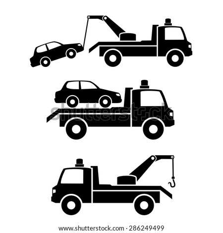 Car towing truck icon.vector - stock vector