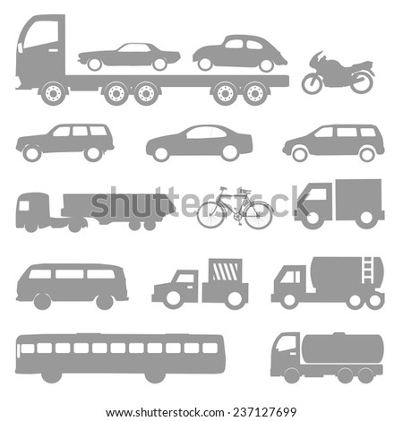 Car vector and icon set great for any use. - stock vector