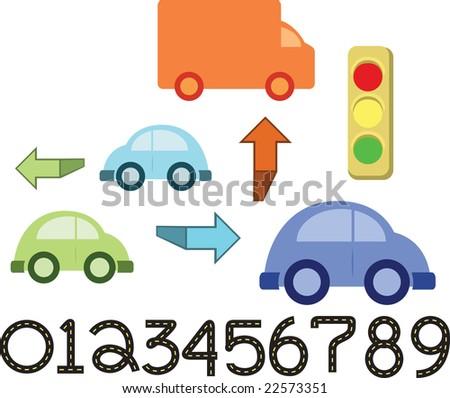 Car Vector Element Set - stock vector