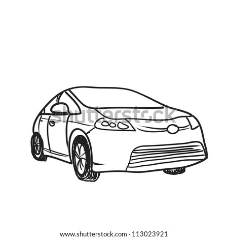 car vector sketch - stock vector