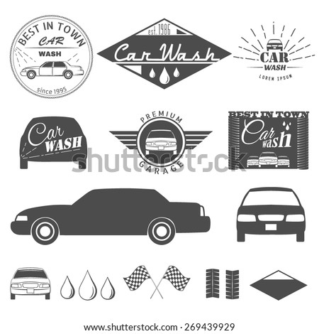 Car wash  - stock vector