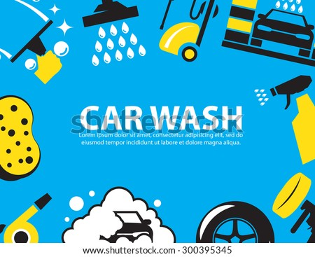 Car wash Background - stock vector
