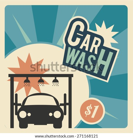 Car Wash, front of a  classic car within the system