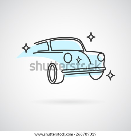 Car wash logo. Vector logo template for car service or wash business. - stock vector