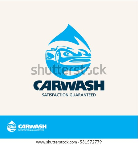 car wash vector logo