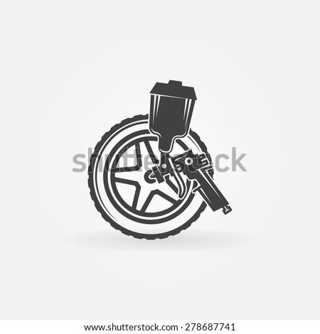 Paint Gun Logos a Spray Gun Vector Logo or