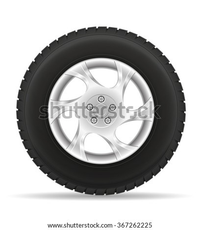car wheel tire from the disk vector illustration isolated on white background