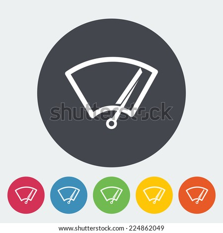 Car wiper. Single flat icon on the circle. Vector illustration. - stock vector