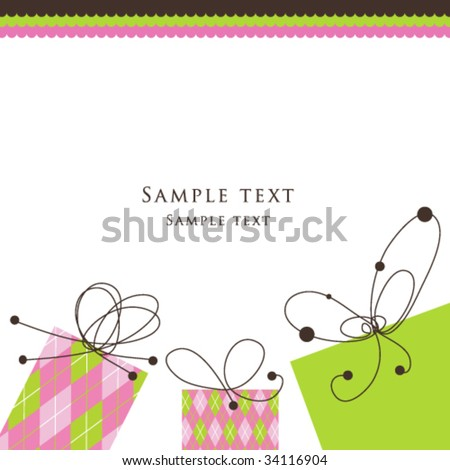 Card - stock vector