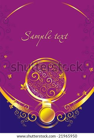 card abstract 1 - stock vector