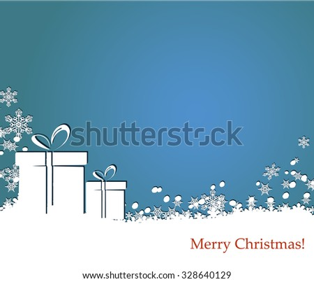 Card/border  in a winter holidays  style with snowflakes  - stock vector