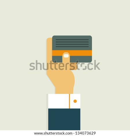 Card Business - stock vector