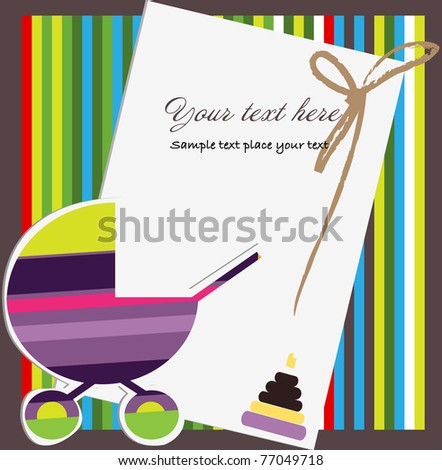 Card for baby - stock vector