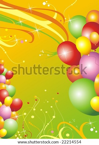 Card for birthday and other celebration. - stock vector