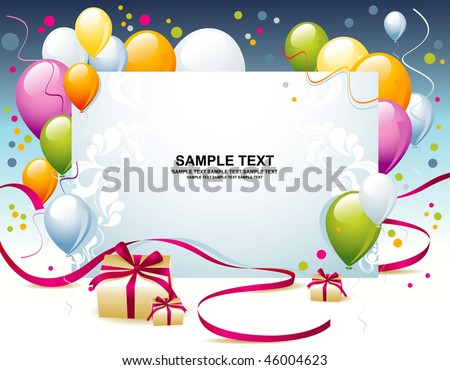Card for congratulations - stock vector