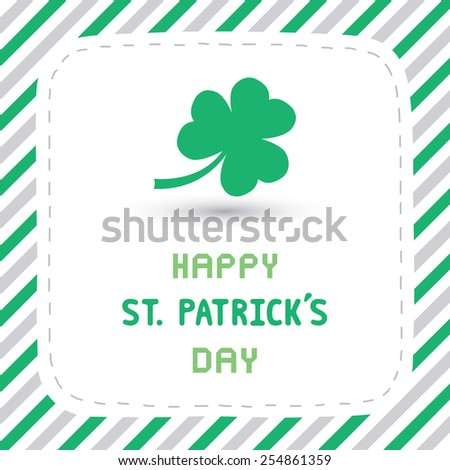 Card for happy Saint Patrick s Day. - stock vector