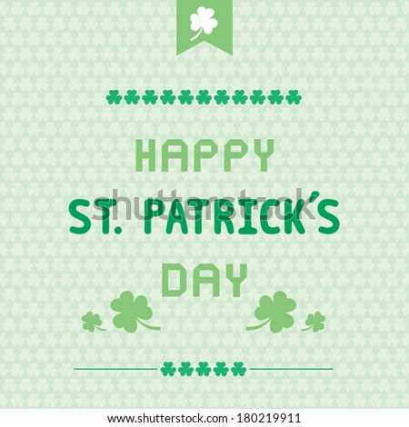 Card for Saint Patrick's Day. - stock vector