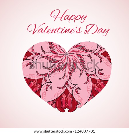 card for Valentine's Day - stock vector