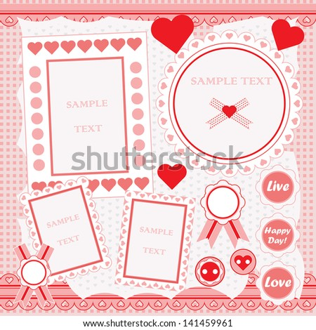 card for Valentine `s Day. vector illustration