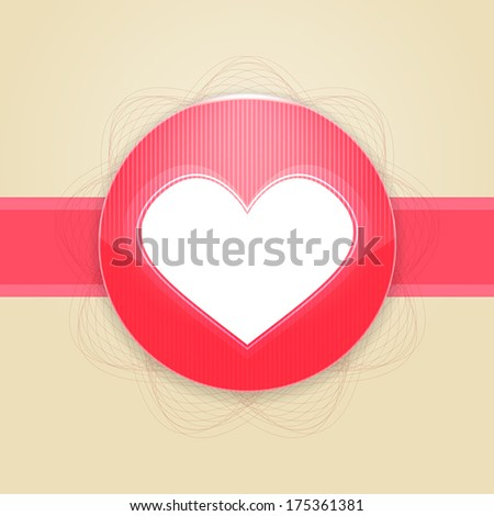 Card for Valentines day with heart - stock vector