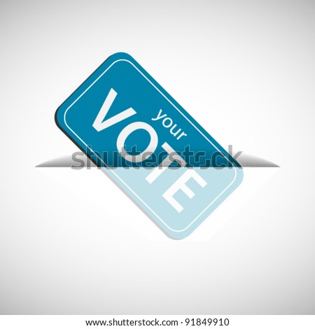 Card inserting to slot - stock vector