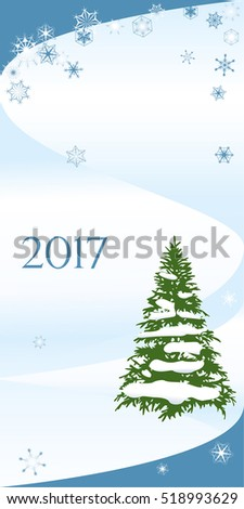 Card of vertical format DL to Christmas and New year